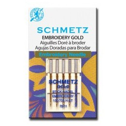 Schmetz Gold Embroidery nr. 75 - naaimachinenaald/ Borduurnaald