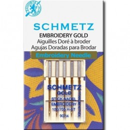 Schmetz Gold Embroidery nr. 90 - naaimachinenaald/ Borduurnaald